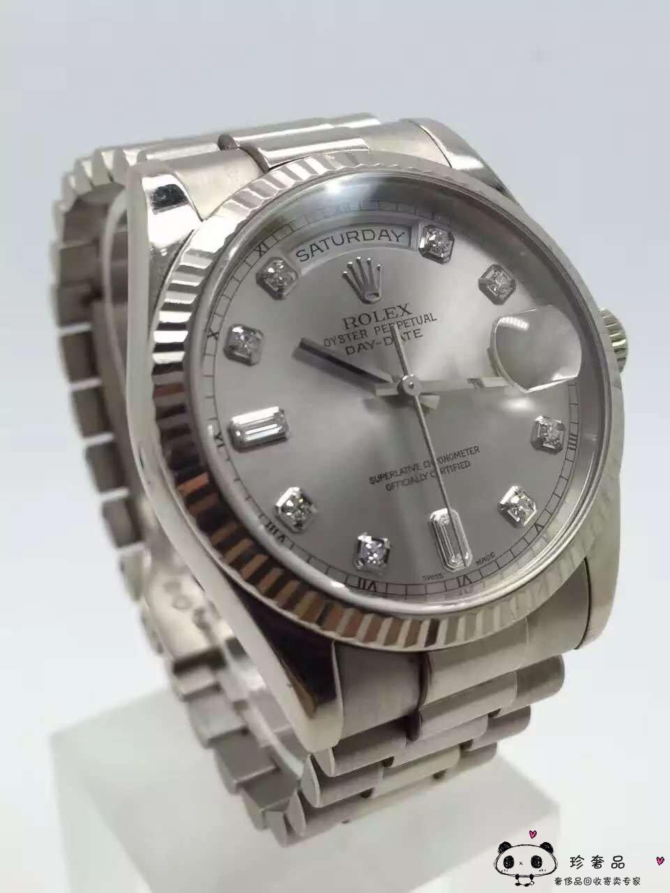 老款劳力士男表价格_劳力士118239白金镶钻自动机械男表_手表寄卖_珍奢品